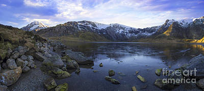 Photograph - Frozen Lake Idwal by Ian Mitchell