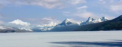Photograph - Frozen Lake Mcdonald by Joe Duket