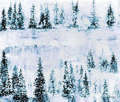 Painting - Frozen Lake Reflections by Hazel Holland