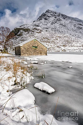 Photograph - Frozen Lake Snowdonia by Adrian Evans