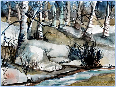 Frost Drawing - Frozen Land by Mindy Newman