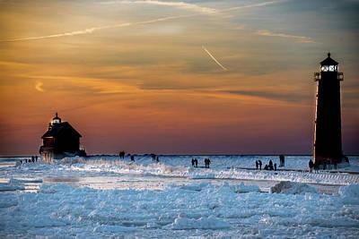 Pyrography - Frozen Lighthouse by Douglas Milligan