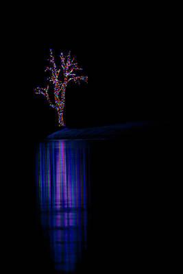 Photograph - Frozen Lights Across The Lake by Mark Harrington