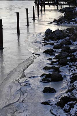 Photograph - Frozen Marina by Mary Bedy