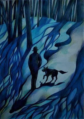Drawing - Frozen Memories by Anna Duyunova