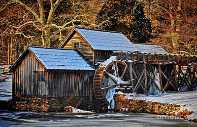 Photograph - Frozen Mill by Randy Rogers