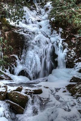 Photograph - Frozen Mouse Creek Falls In The Great Smoky Mountains National Park by Carol Montoya