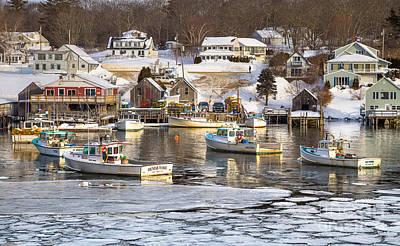 Frozen New Harbor Art Print