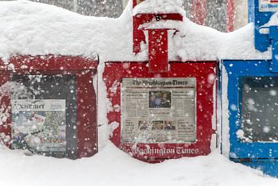 Photograph - Frozen News by SR Green