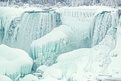 Photograph - Frozen Niagara American Falls by Charline Xia
