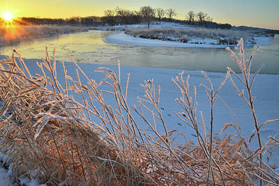 Photograph - Frozen Nippersink Creek In Glacial Park by Ray Mathis