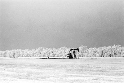 Photograph - Frozen Oil Field by William Kimble