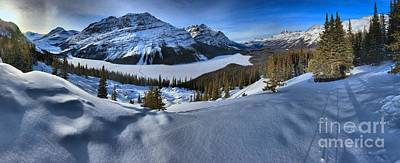 Photograph - Frozen Peyto Lake Panorama by Adam Jewell
