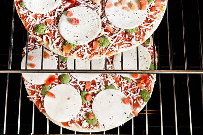 Paste Photograph - Frozen Pizza by Tom Gowanlock