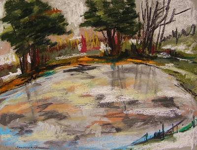 Pastel - Frozen Pond 2 by John Williams