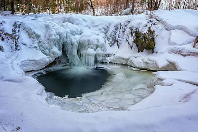 Photograph - Frozen Pool At Smalls Falls by Rick Berk