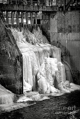 Photograph - Frozen Power by Olivier Le Queinec