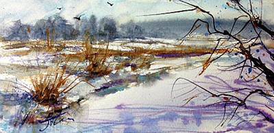 Painting - Frozen River by Judith Levins