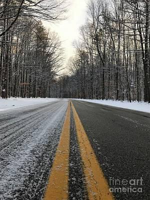 Frozen Road In Life Art Print by Michael Krek