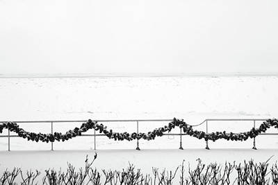 Photograph - Frozen Saint Clair River In Snowstorm by Mary Bedy