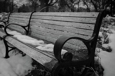 Photograph - Frozen Seats by Miguel Winterpacht