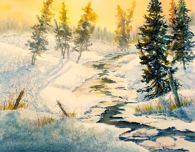 Painting - Frozen Stream by Carolyn Rosenberger