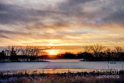 Photograph - Frozen Sunrise by Jean Hutchison