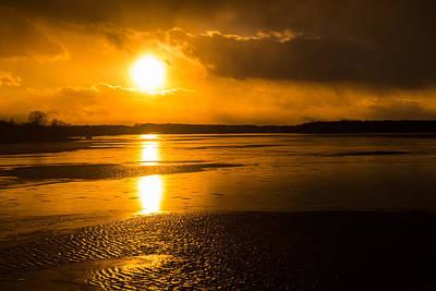 Photograph - Frozen Sunset by SR Green