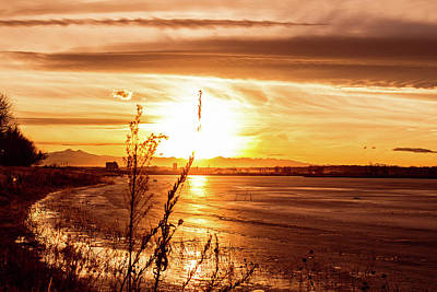 Photograph - Frozen Sunset by Tyson Kinnison