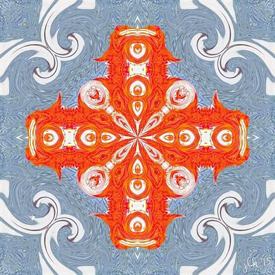 Digital Art - Frozen Swirls Wait Is That A Zamboni? by Lori Kingston