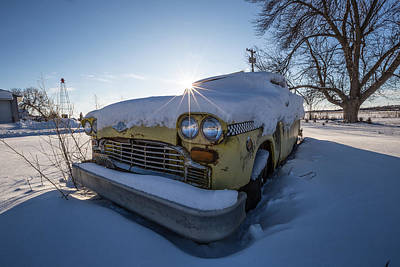 Photograph - Frozen Taxi by Aaron J Groen
