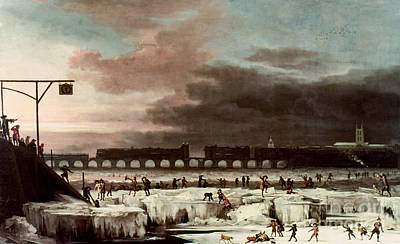 Photograph - Frozen Thames by Granger
