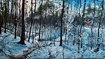 Snowscape Painting - Frozen Thawsage Estate,  by Rob Barker