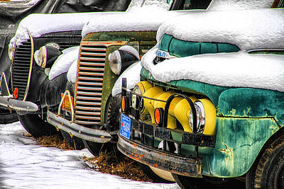 Photograph - Frozen Trucks by Juli Ellen