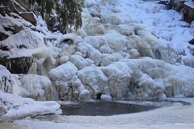 Photograph - Frozen Wahconah Falls by John Burk