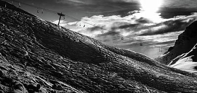 Photograph - Frozen Wasteland At Ski Piste by Alexandre Rotenberg
