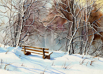 Frozen  View Art Print by Art Scholz