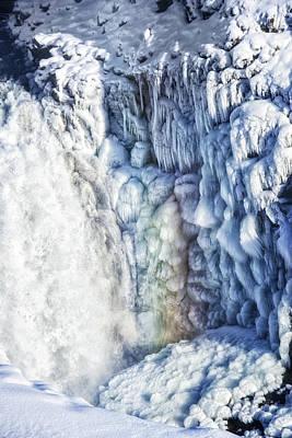 Frozen Waterfall Gullfoss Iceland Art Print by Matthias Hauser