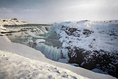 Photograph - Frozen Waterfall by Maria Coulson