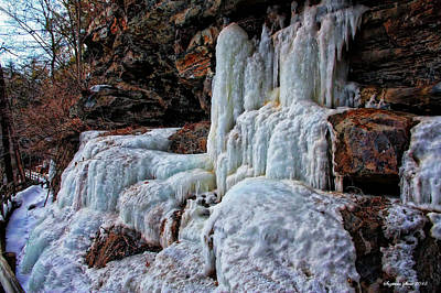 Photograph - Frozen Waterfall by Suzanne Stout