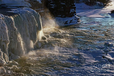 Photograph - Frozen Waterfall by Tatiana Travelways