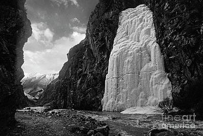 Photograph - Frozen Waterfall - Tibet by Craig Lovell