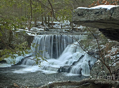 Photograph - Frozen Waterfalls by Robert Pilkington