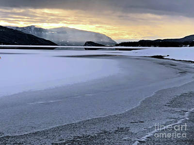 Photograph - Frozen Waves by Victor K
