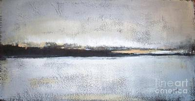 Abstract Landscapes Painting - Frozen Winter Lake by Vesna Antic