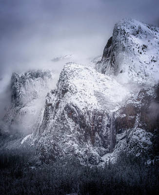 Photograph - Frozen Yosemite by Nicki Frates