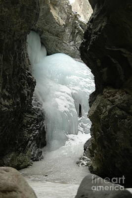 Birds Rights Managed Images - Frozen Zapata Falls Royalty-Free Image by Jeff Swan