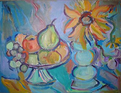 Painting - Fruit And Flowers 2 by Marlene Robbins