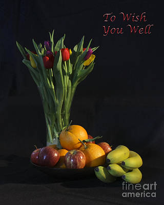 Photograph - Fruit And Flowers To Wish You Well by Terri Waters