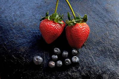 Fruit And Slate Art Print by Jon Daly